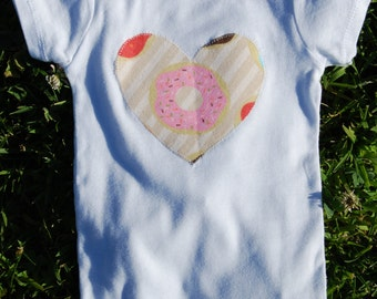 Donut Heart onesie