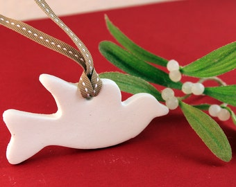 Dove Clay Christmas Tree Ornament