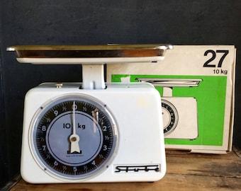 Vintage 60's Stube 10kg. Kitchen Scale With Original Box