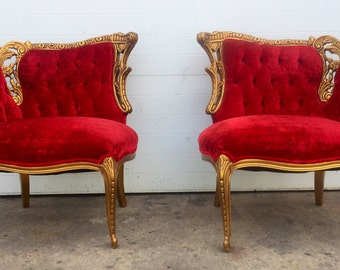Gold Gilt French style Parlor Chairs