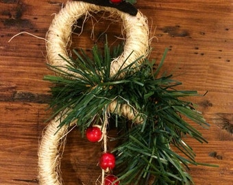 Mason Jar Lid Snowman Ornanent, Rustic Snowman Ornament, Snowman Christmas IOrnament, Mason Jar Lid Ornaments