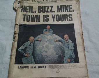 August 13 1969 daily news first man on the moon need paper