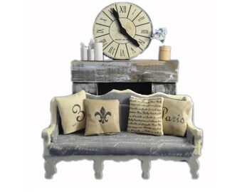 MiniMolly Dollhouse Furniture Lounge Room Set