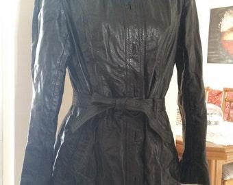 Black leather coat!