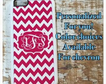 chevron Monogrammed iPhone case for 6 5 5s 5c 4 4s 6 plus 6s 6s plus pink chevron monogram iPhone cover