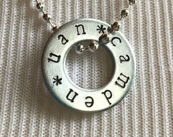 UAN Tour Necklace Custom Hand Stamped Concert Fandom Jewelry, One Direction