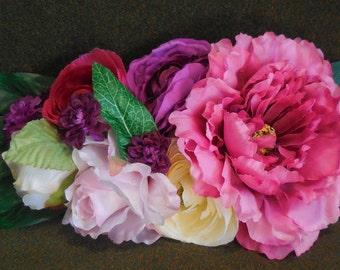 sposa,eventi,cintura di fiori,chic,elegante,