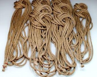 Kit basic 1x10m + 6 x 8 m + 2 x 4 m of rope of hemp for shibari, kinbaku diam 6mm