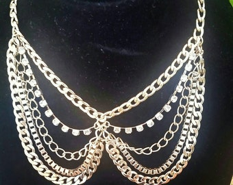 Gold plated chains necklace/chain/chains/necklaces/gold/jewelry/necklace/multi chains