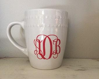 Personalized white coffee mugs