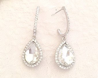Beautiful sparkly crystal earrings. Ideal for brides, bridesmaids or parties.