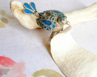 Vintage Peacock Statement Ring