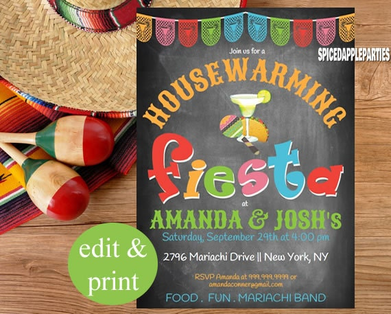 Housewarming fiesta party chalkboard invitation instant download il570xn solutioingenieria Choice Image