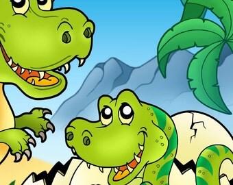Dinosauri Libro da Colorare 1