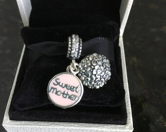 Pandora  Sweet Mother Hanging Sterling Silver Charm #791285CZ