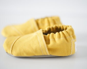 Mustard Yellow Toms Inspired Soft Sole Baby Shoe