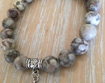 Maifan Stone bracelet, 10mm beads, made to order, reiki, yoga