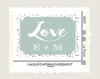 Love - Visual for the postage stamp