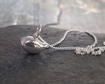 Little Bird Necklace. Silver Birdie Pendant