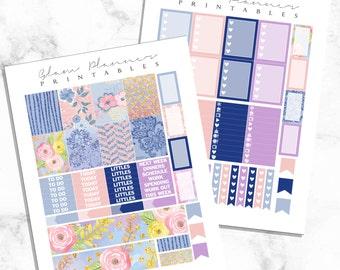 Serenity: Printable Planner Stickers for Erin Condren (2 Pack PDF)
