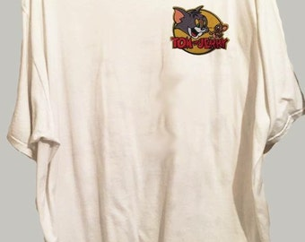 Tom and jerry patch tshirt