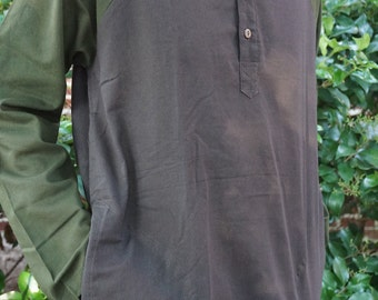 Mens Heady Two Colored Long Sleeve Shirt With Pockets