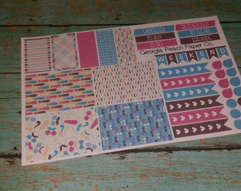 Hipster Mister Themed Planner Stickers- Mustache/Tie Themed- Made to fit Vertical Layout