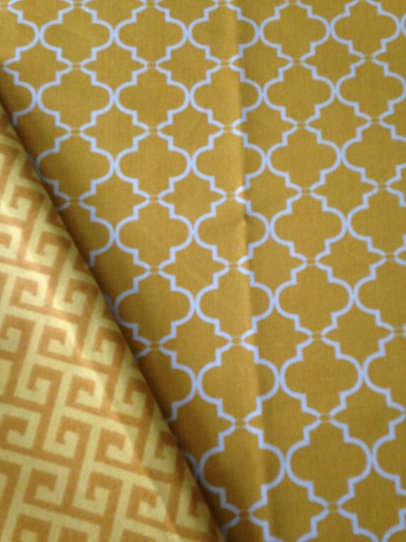 Washable Weighted Yellow Moroccan Lap Pad/Small Blanket/Travel Weighted Blanket 3 pounds.  14.5x22 Ready to Ship