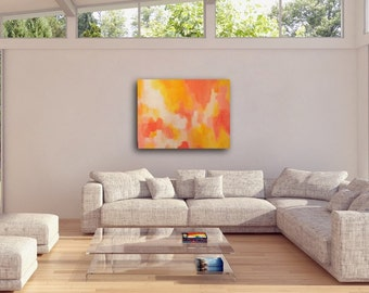 LARGE MODERN ABSTRACT Original Painting, Colorful Abstract Painting, Modern Home Decor