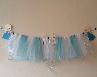 Princess glitter garland, Princess Sofia garland, Queen Elsa banner, Princesses, Tutu banner, Bunting Banner,  Shabby Chic Banner