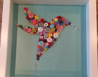 Hummingbird Button art