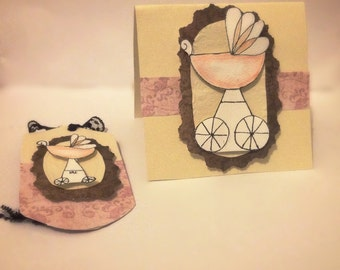 Vintage Inspired Gift Tag and Card Set