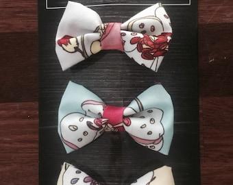 "Lil Miss ""Prim & Poppy"" Fabric Hair Bows Set of 3"