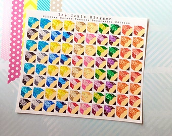 Glitter Corner Pencils Functional and Decorative Planner Stickers
