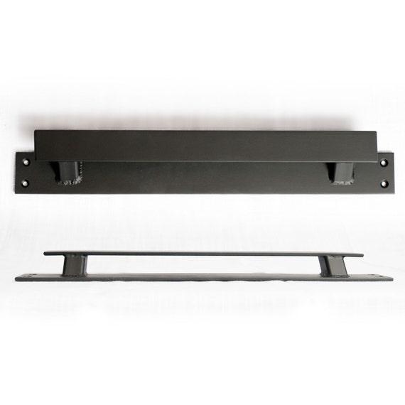 Low Profile Doors : Low profile offset steel sliding barn door handle loft