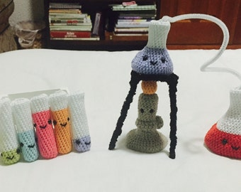 Small Crochet Chemistry Set