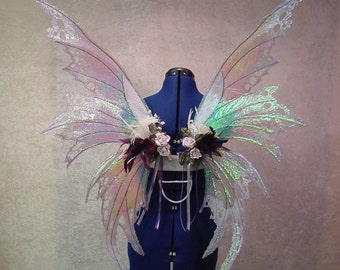 Custom - Made to Order - Adult Irridescent Fairy Wings