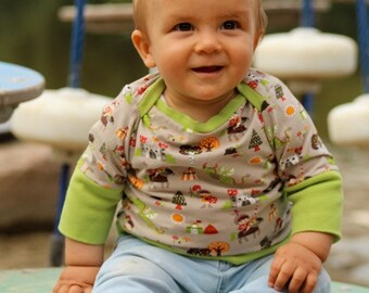 "ELIAS baby pattern ""envelope neckline shirt"", sizes 50-74 (1–12mo) / INSTANT DOWNLOAD"