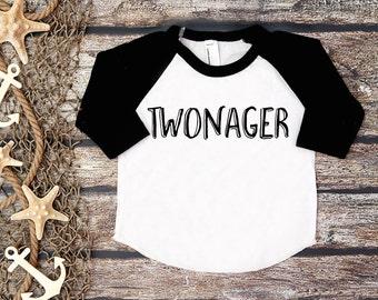 Twonager Shirt;Second Birthday Shirt; 2nd Birthday; 2nd Birthday Shirt; Two;2; Second Birthday Tee;