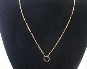 Simple, 14k Gold Filled, Ring Pendant Necklace