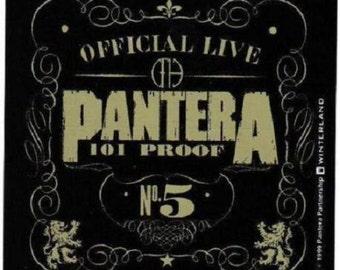 Rare Vintage Pantera 101 Proof Dimebag Darrell Vinyl Bumper Sticker-New!