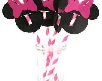Minnie Mouse Straws (25pcs)