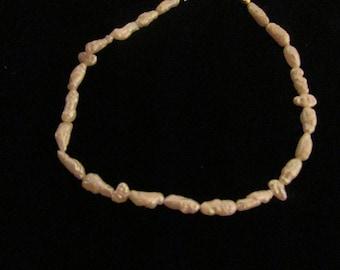 Vintage 14kt Gold Fresh Water Pearl Bracelet Patent 1967