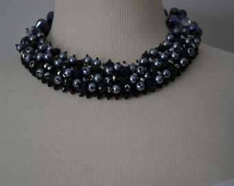 Sparkling Crystal and Freshwater Pearl Necklace