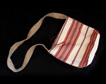 Ukrainian ethnic women bag from woven fabric Ethnic shoulder bag