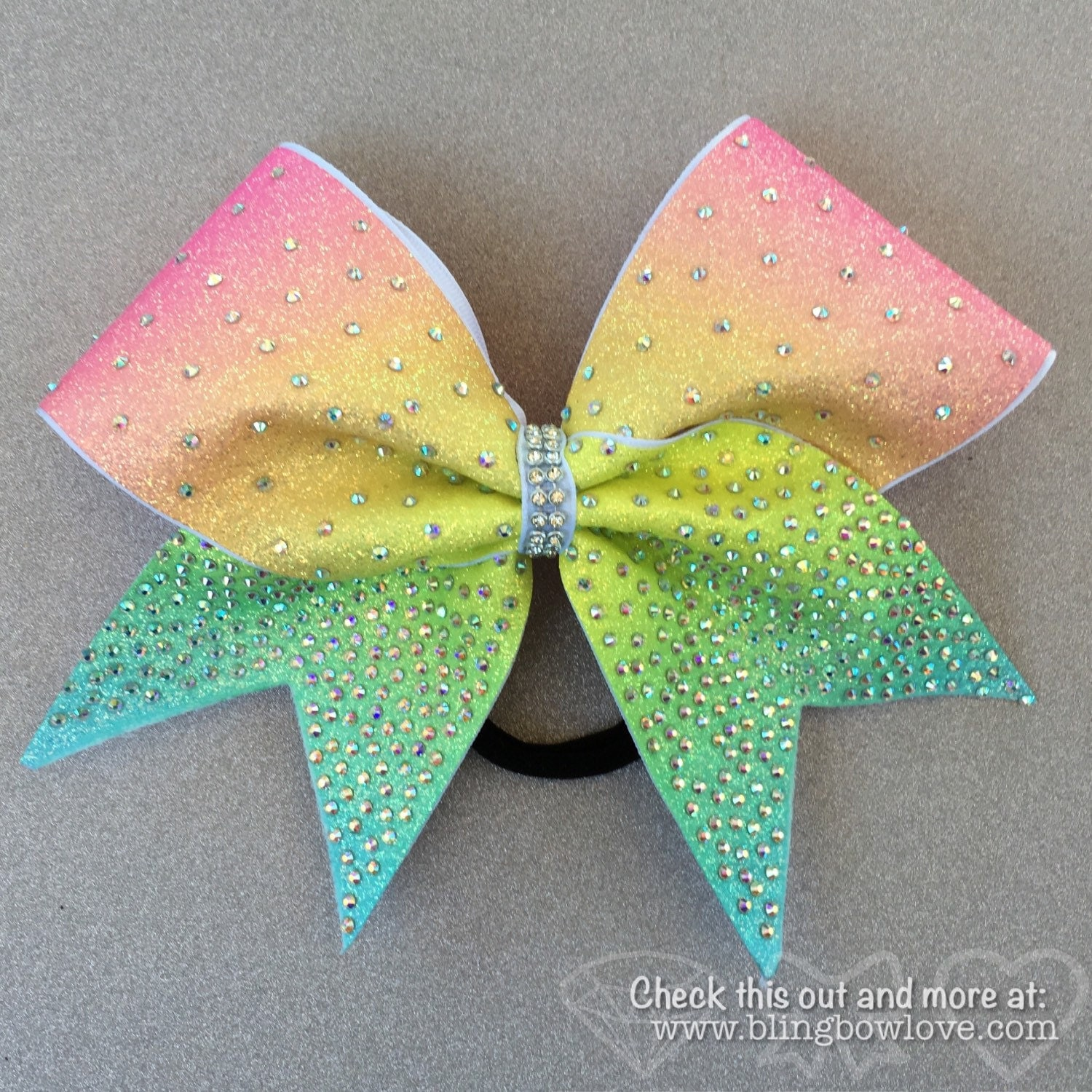 Spring Bling Rainbow Cheer Bow Ombre Cheer Bow