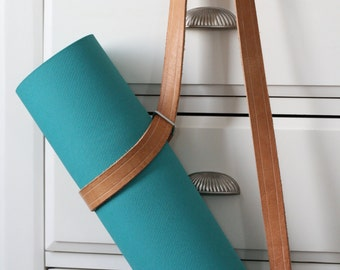 Leather Yoga Mat Cinch Strap