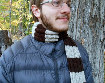 Hand Knit Ribbed Scarf - single colored or multi-colored