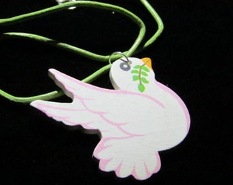 Little Girls Dove necklace