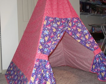 Custom Child's TeePee - You Pick Your fabric and design!, play teepee, child's tent, toddler teepee, tipi,
